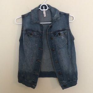 Xhilaration Denim Vest XS